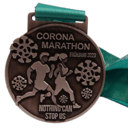 Virtual Run Medaille Corona Marathon