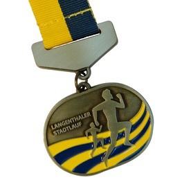 Langenthaler Stadtlauf Medaille mit Band Träger