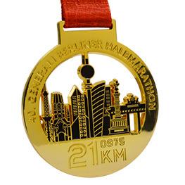 Glänzende Medaille Gold